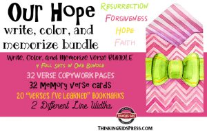 Our Hope Bible Verses Bundle: Write, Color, and Memorize Bundle