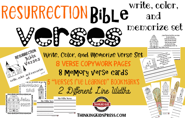 Easter Bible Verses: A Resurrection Bible Verses Write, Color, and Memorize Set