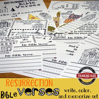 Easter Bible Verses: Write, Color, & Memorize Set