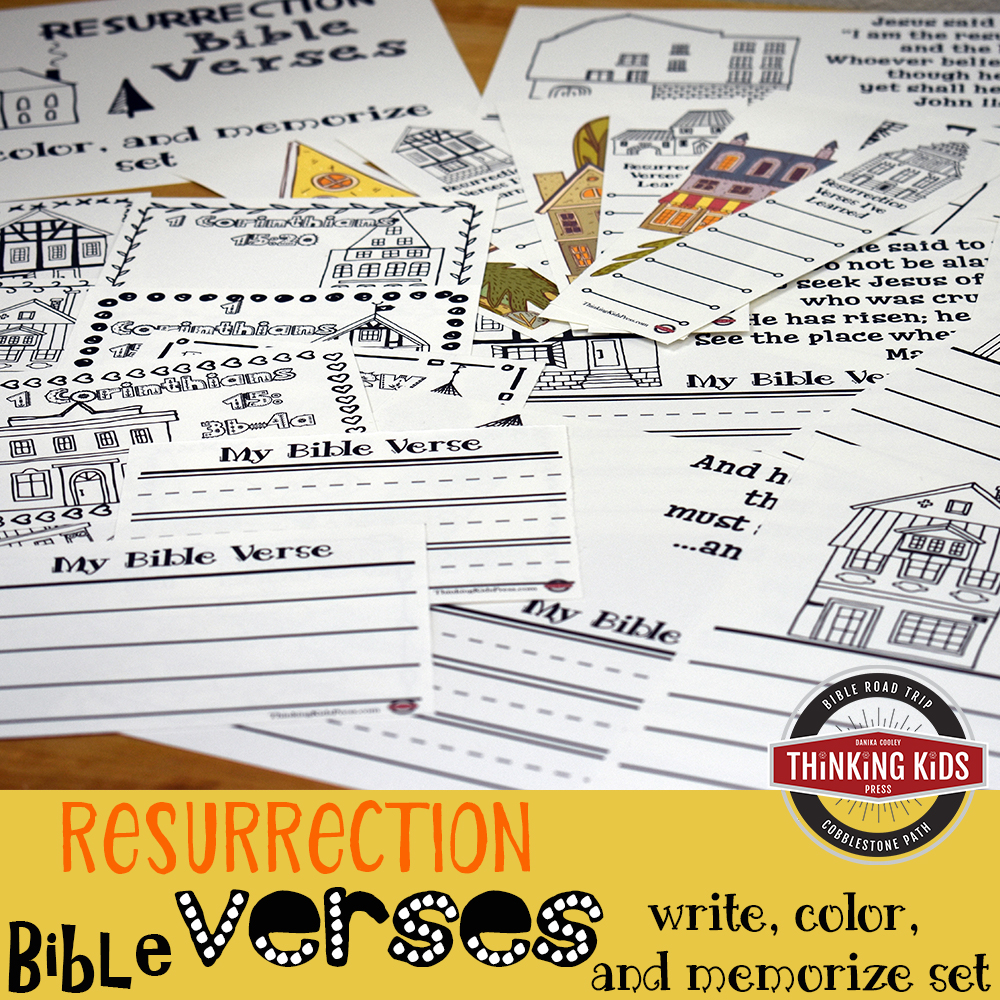 Resurrection Bible Verses: Write, Color, and Memorize