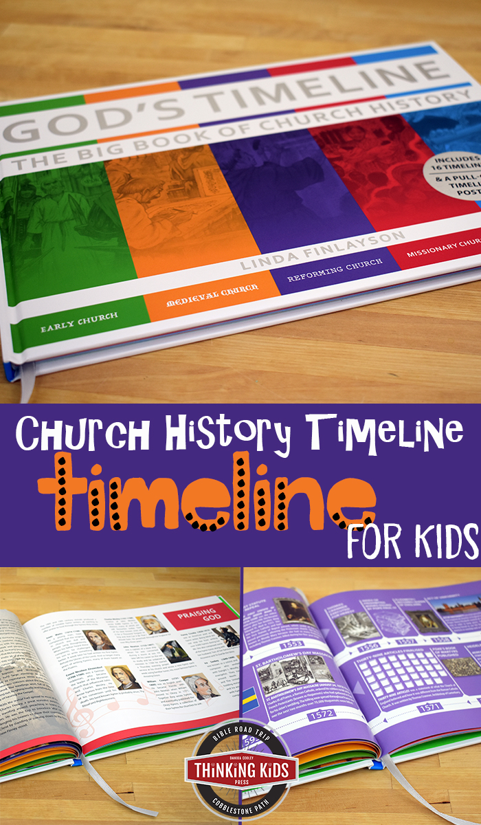 Christian Church History Timeline for Kids This fabulous timeline will teach your kids Church history in a fun way!