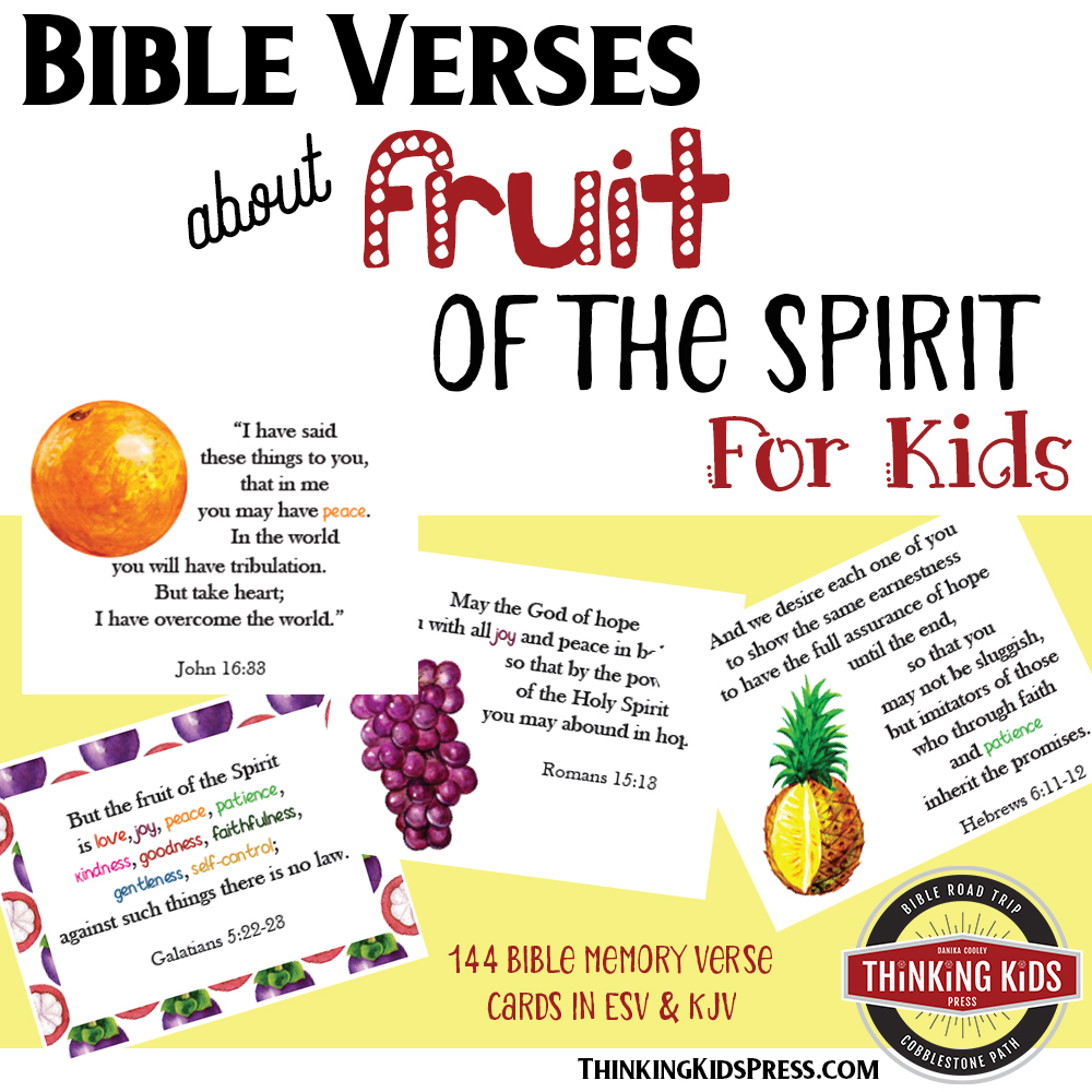 Bible Verses about Fruit of the Spirit for Kids
