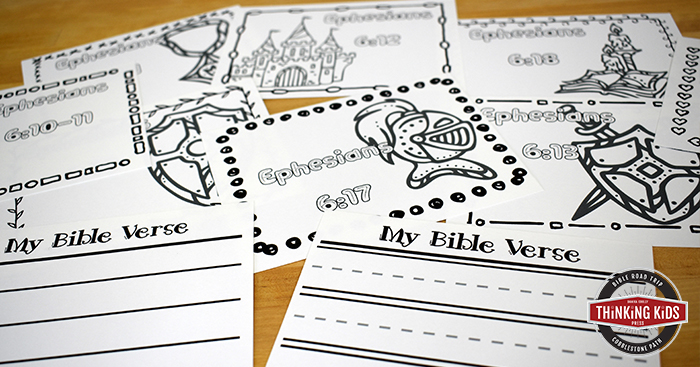 Bible Verses about the Armor of God for Kids: Write, Color, & Memorize Set