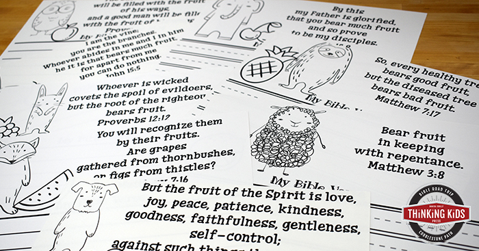 The Fruit of the Spirit Scripture Write, Color, and Memorize Set
