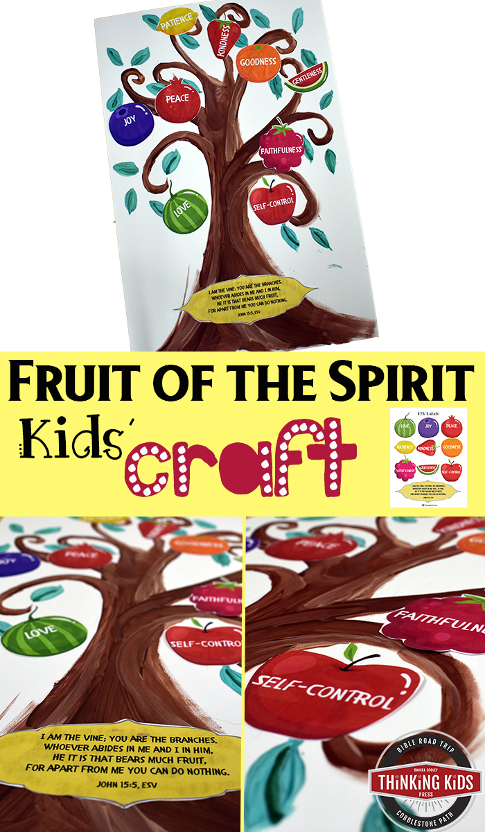 The Fruit of the Spirit Kids' Craft Teach your kids about the Fruit of the Spirit from Galatians 5:22-23 and John 15:5, with this fun craft. Download Fruit of the Spirit printables in ESV or KJV.