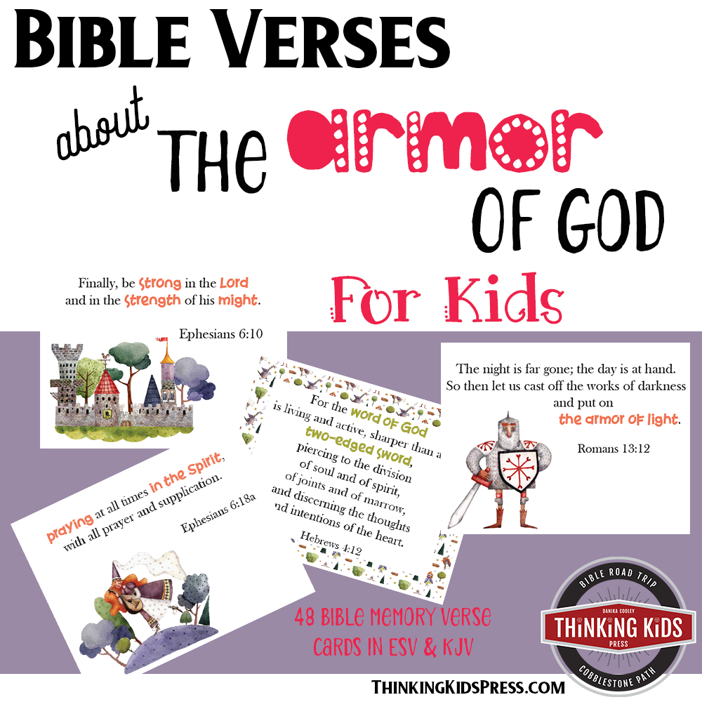 Bible Verses about the Armor of God for Kids Memory Cards