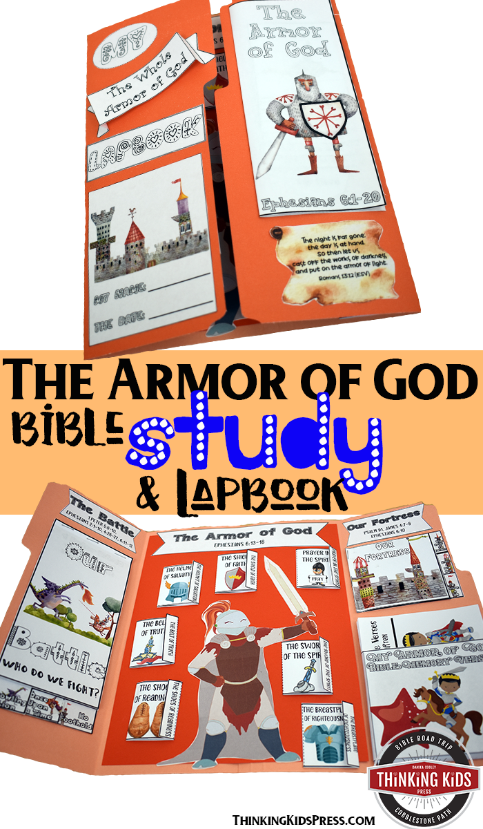 The Armor of God Bible Study and Lapbook Teach your kids with this hands-on the Armor of God Bible study and lapbook! Colorful and engaging, your kids will remember their studies forever.