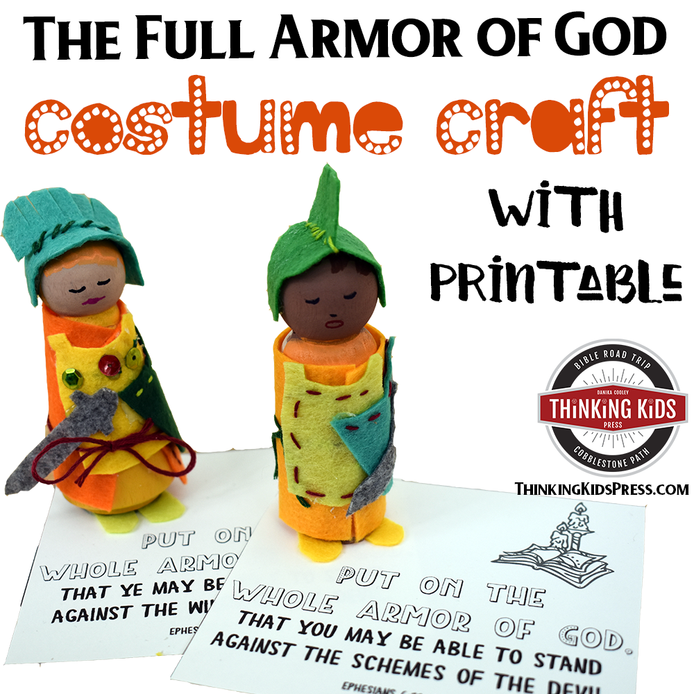 The Full Armor of God Costume Craft Printable