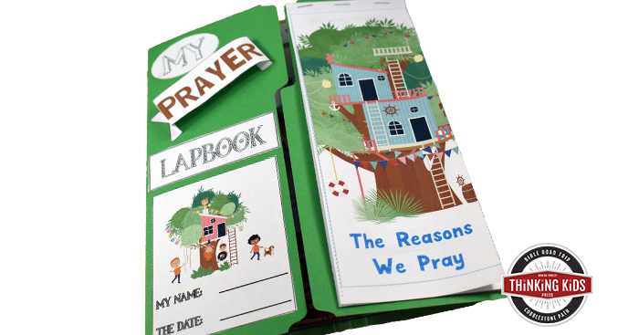 Prayer Bible Study for Kids and Lapbook