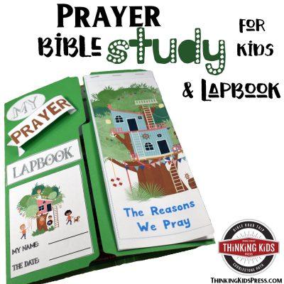 Prayer Bible Study for Kids Lapbook