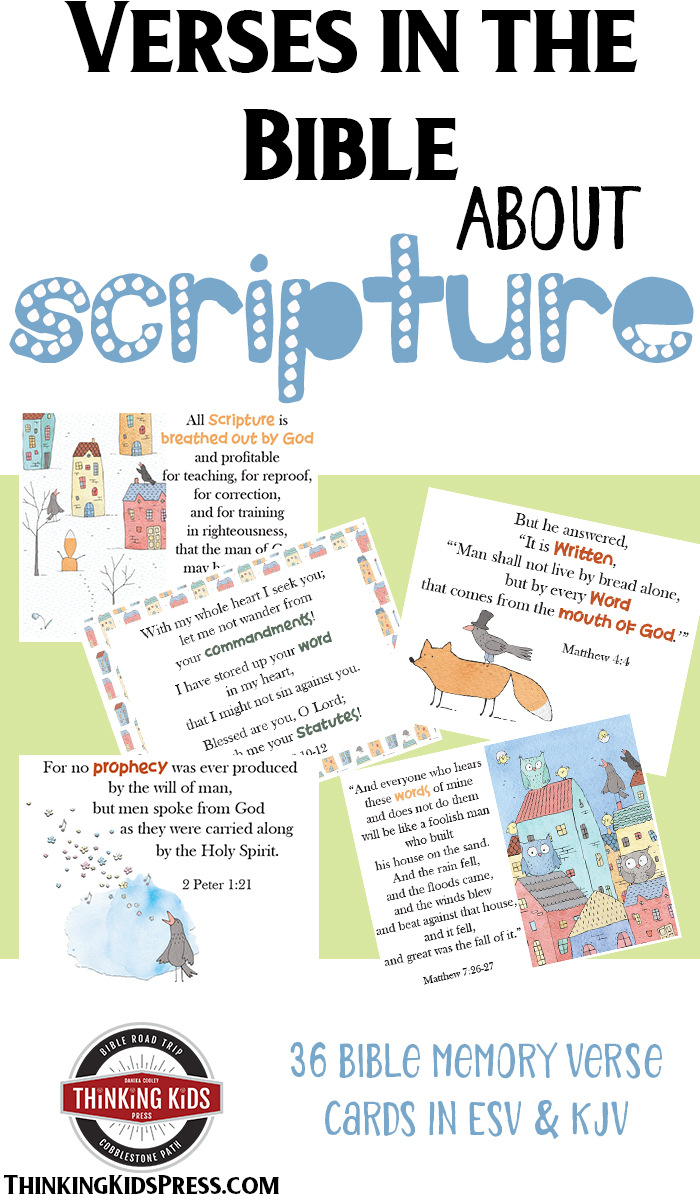 Verses in the Bible about Scripture Memory Verse Card Set - Teach your kids what the Bible has to say about itself.