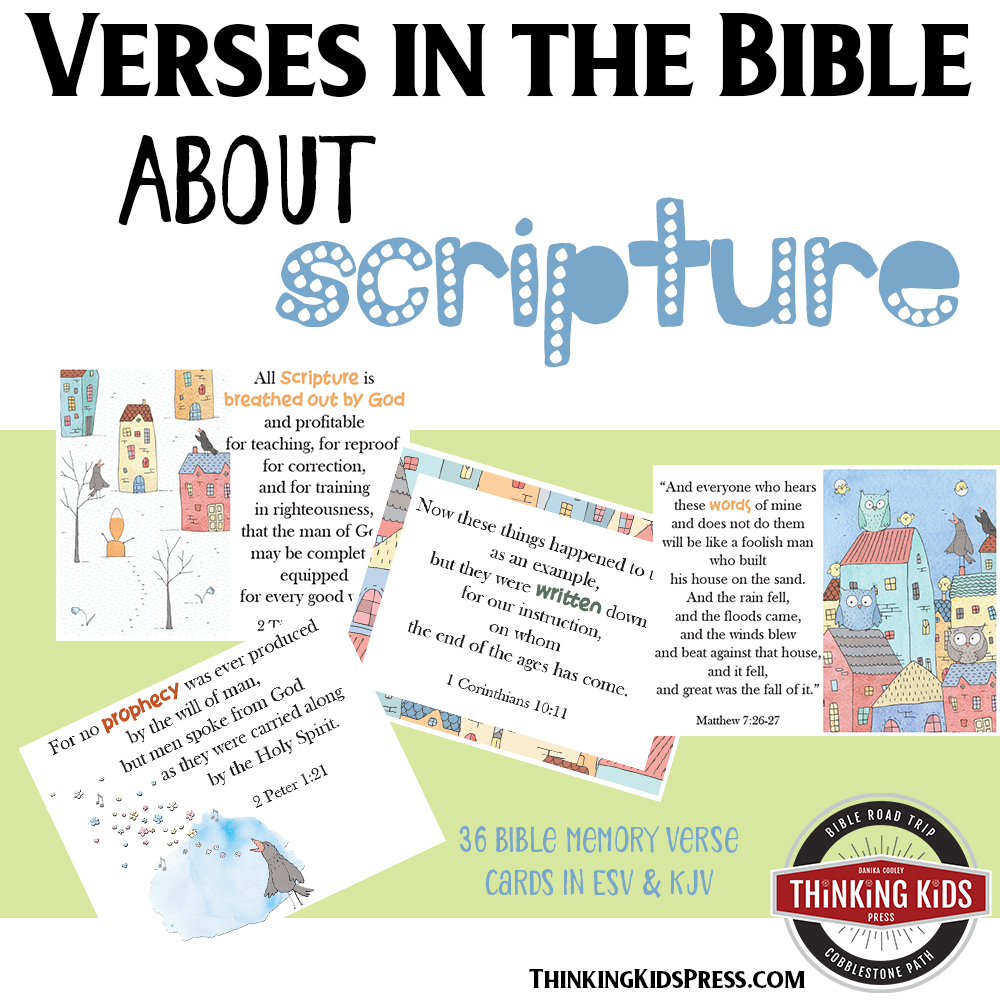 Verses in the Bible about Scripture Bible Memory Verse Cards