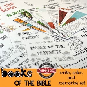 Books of the Bible in Order | Write, Color, and Memorize Set
