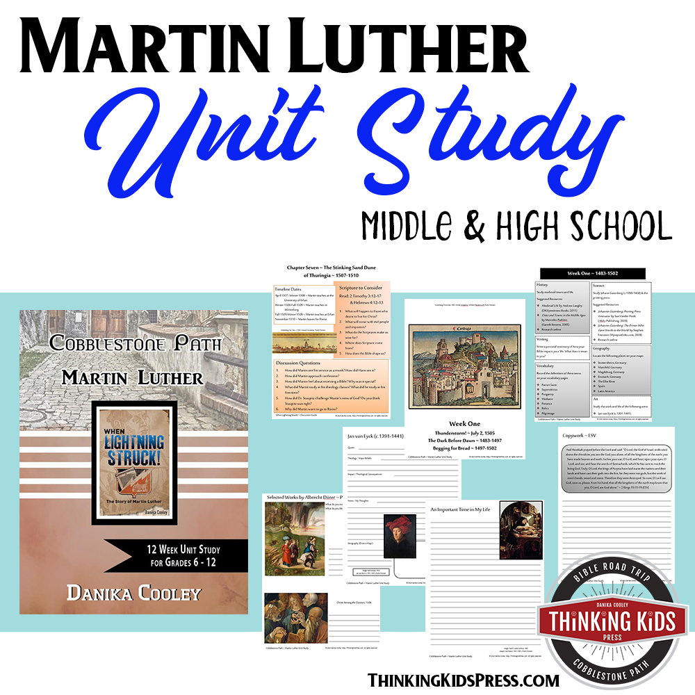 Martin Luther of the Reformation Unit Study for Teens
