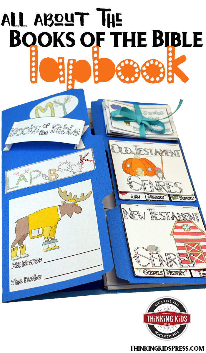 All About the Books of the Bible Lapbook Teach your kids all about the books of the Bible with this fun lapbook. They'll learn the order, authors, genres, and themes of every book of the Bible!