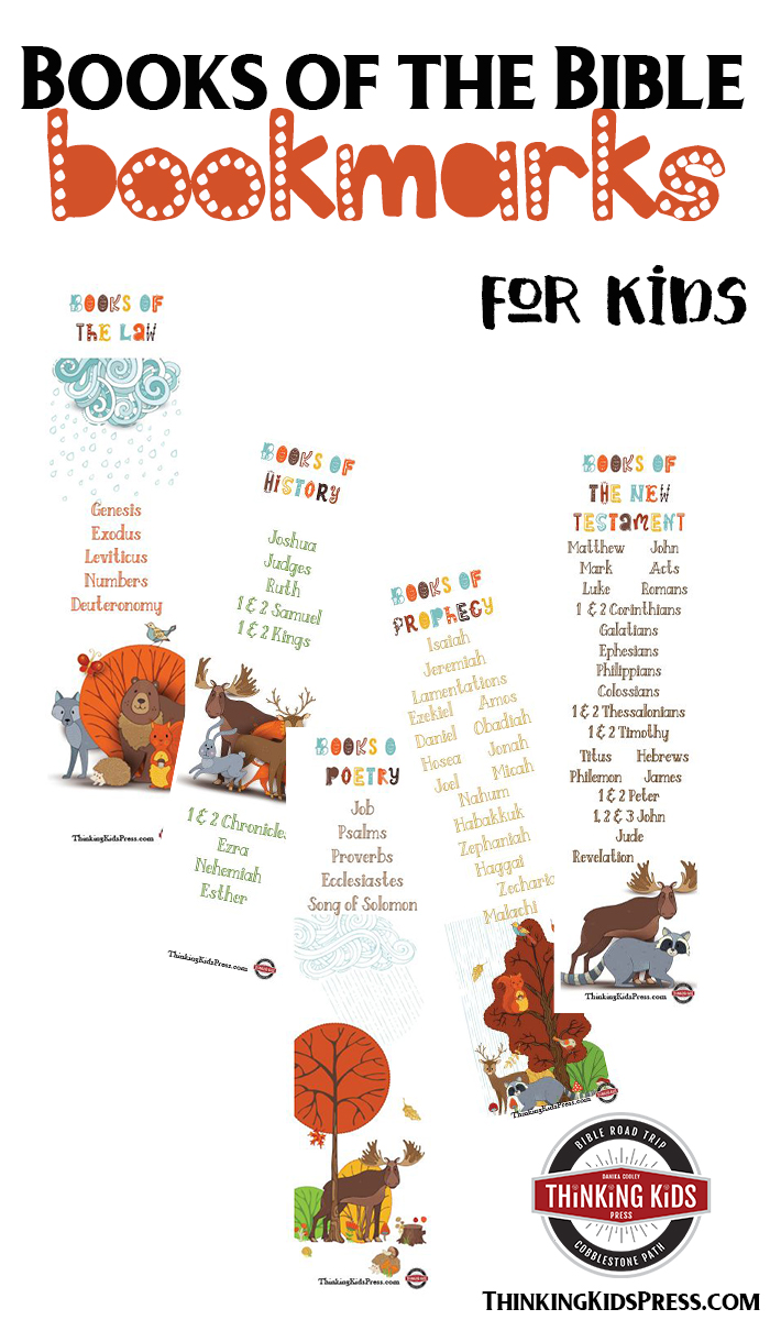 Books of the Bible Bookmarks These adorable free printable books of the Bible bookmarks will help you teach your kids all 66 books of the Bible in order.