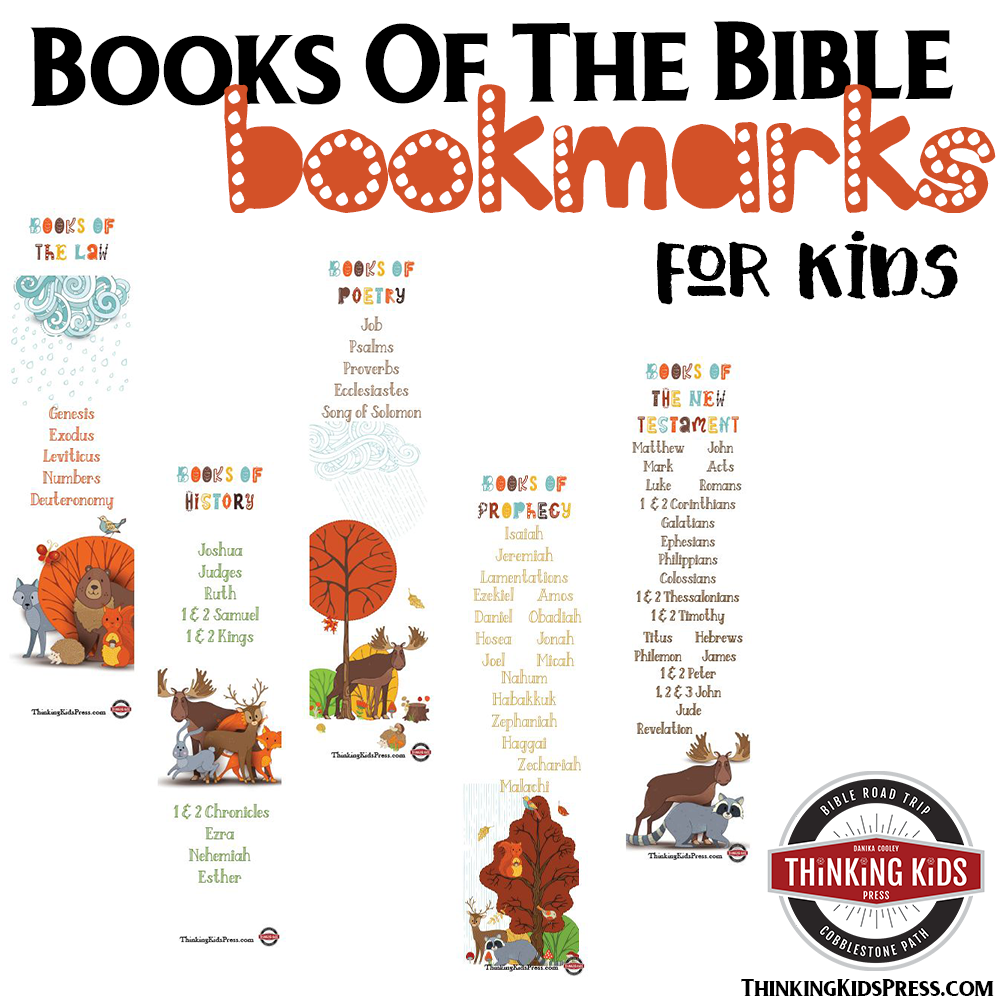 Books of the Bible Bookmarks for Kids