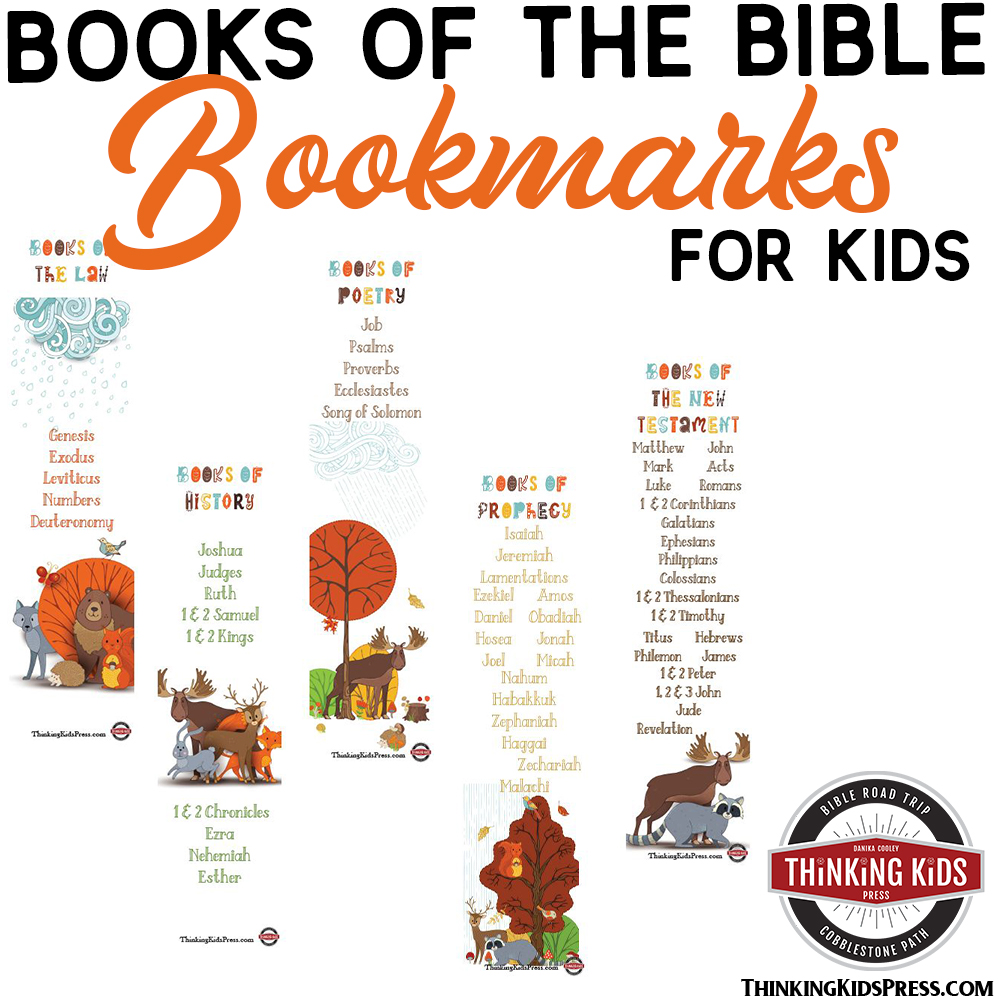 FREE Books of the Bible Bookmarks