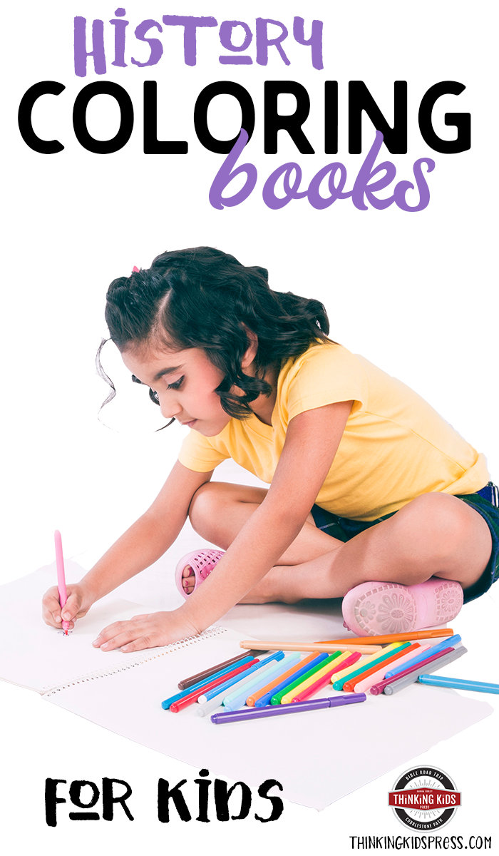History Coloring Books for Kids Teach history in an engaging, hands-on way with these great coloring books for kids.