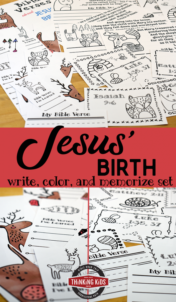 Bible Verses About Jesus' Birth | Write, Color, and Memorize Set