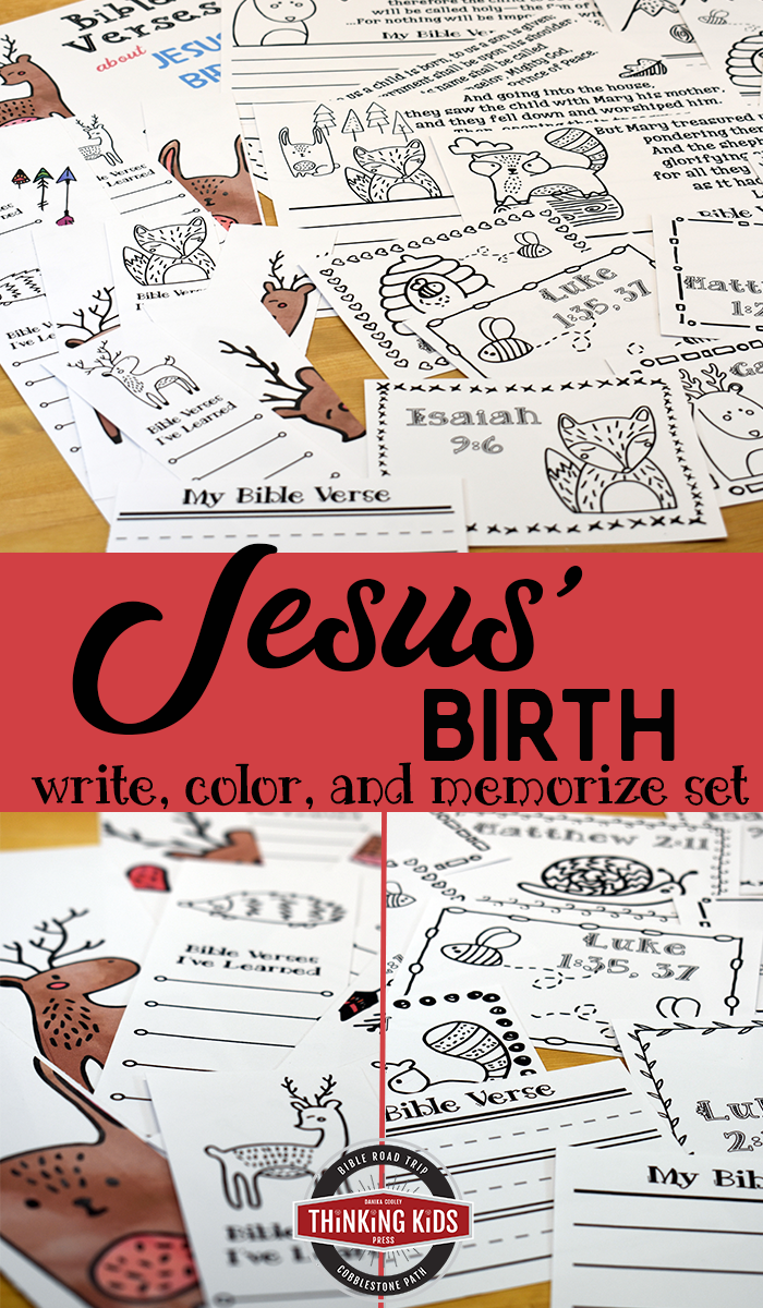 Bible Verses About Jesus' Birth | Write, Color, and Memorize Set Teach your kids about the birth of Jesus Christ with this Write, Color, and Memorize set of Bible Verses about Jesus' Birth!