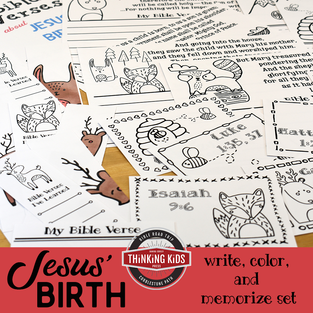 Bible Verses About Jesus' Birth | Write, Color, & Memorize Set