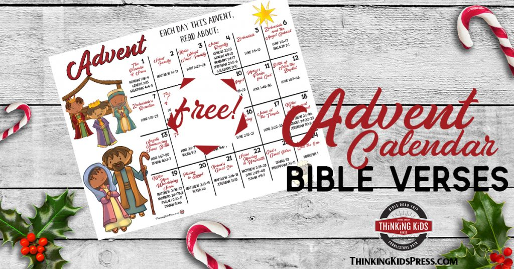 Christmas Advent Calendar with Bible Verses