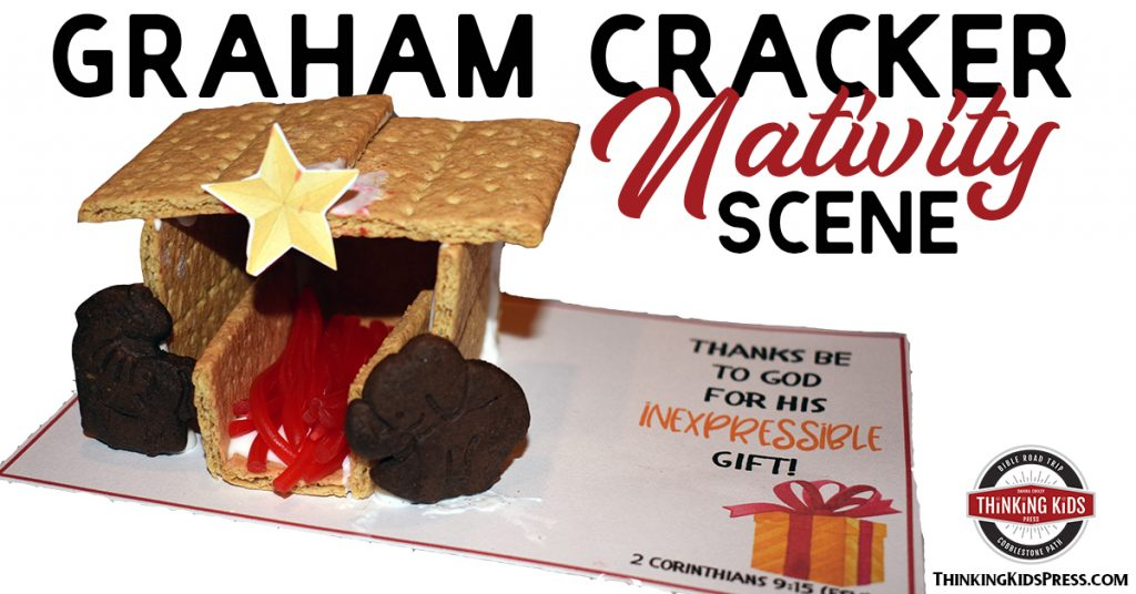 Easy Graham Cracker Nativity Scene