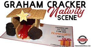 Easy Graham Cracker Nativity Scene