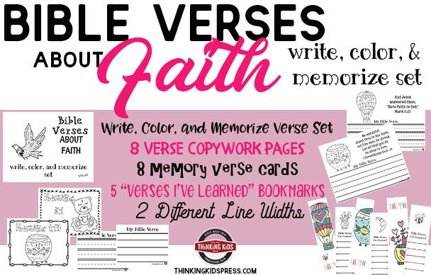 Bible Verses about Faith Copywork Set for Kids
