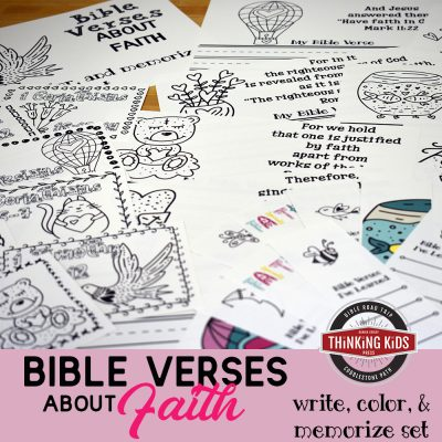 Bible Verses about Faith Copywork Set for Kids