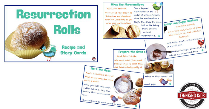 Resurrection Rolls Recipe with Easter Story Cards