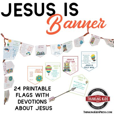 Jesus Is Banner with Daily Devotions for Your Kids