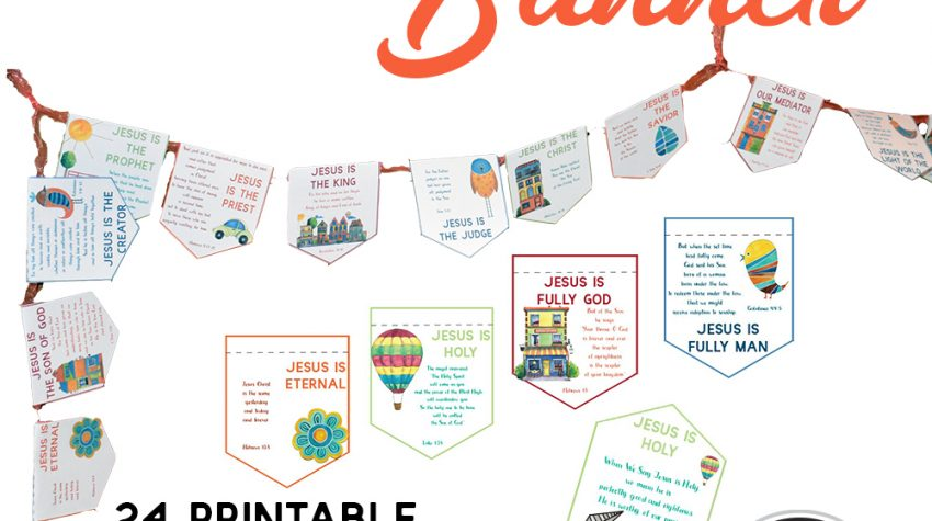 Jesus Is Banner with Daily Devotions for Your Kids Printable