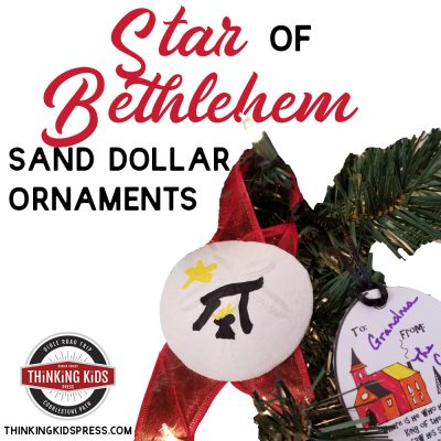 Christmas Star of Bethlehem Sand Dollar Ornaments