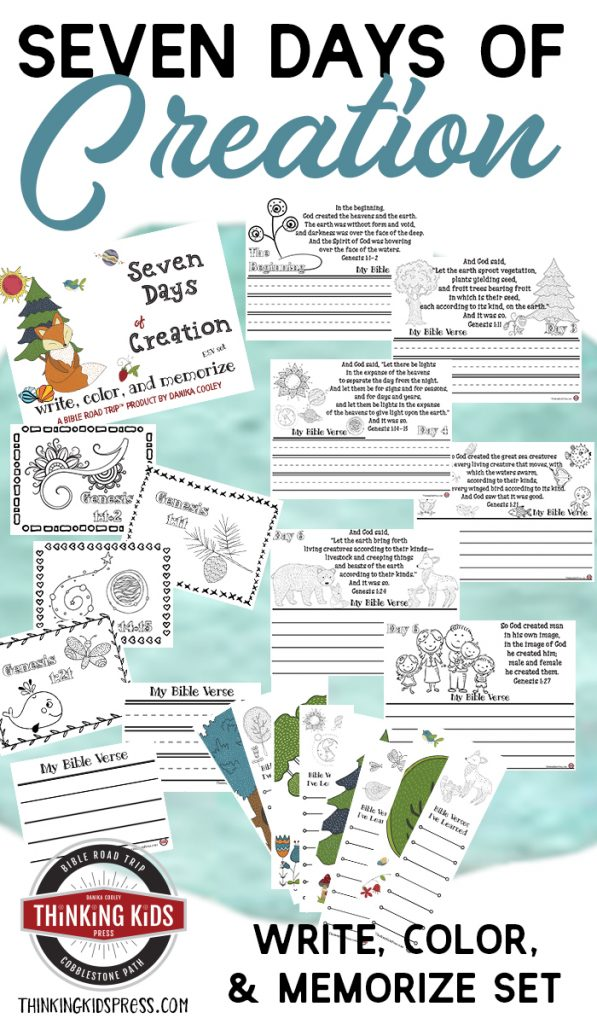 Seven Days of Creation in Order | Write, Color, and Memorize Set for Kids