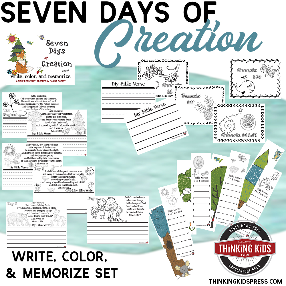 Seven Days of Creation in Order | Write, Color, and Memorize Set