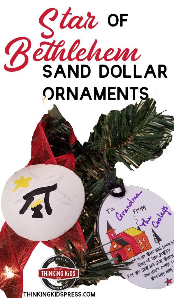 Christmas Star of Bethlehem Sand Dollar Ornaments