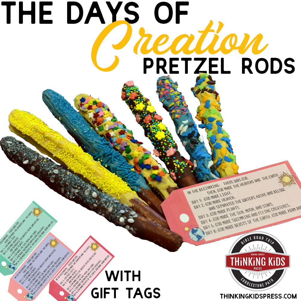 The Days of Creation Chocolate Covered Pretzel Rods