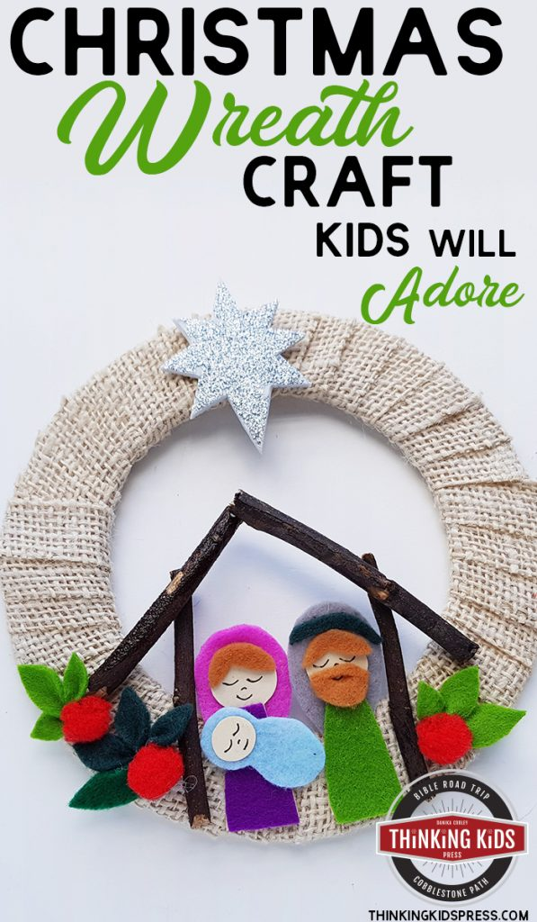 Christmas Wreath Craft for Kids to Make