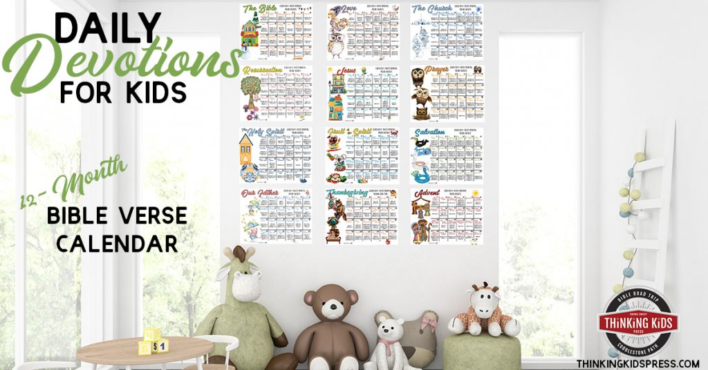 Daily Devotions for Kids | A 12-Month Bible Verse Calendar for your Family