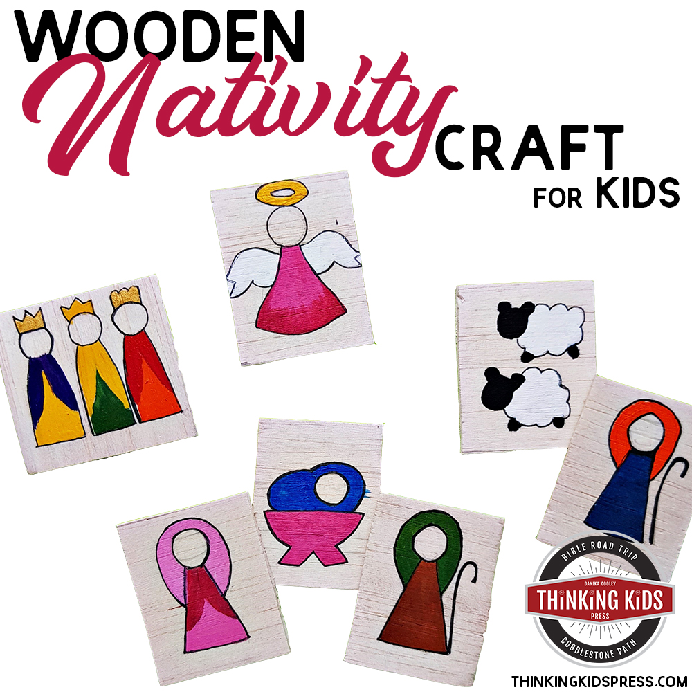 Wooden Nativity Craft for Kids
