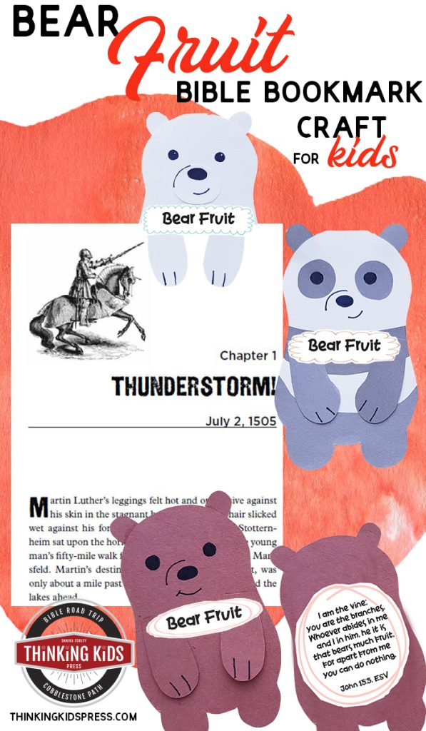 Bear Fruit | A Bible Bookmark Craft for Kids