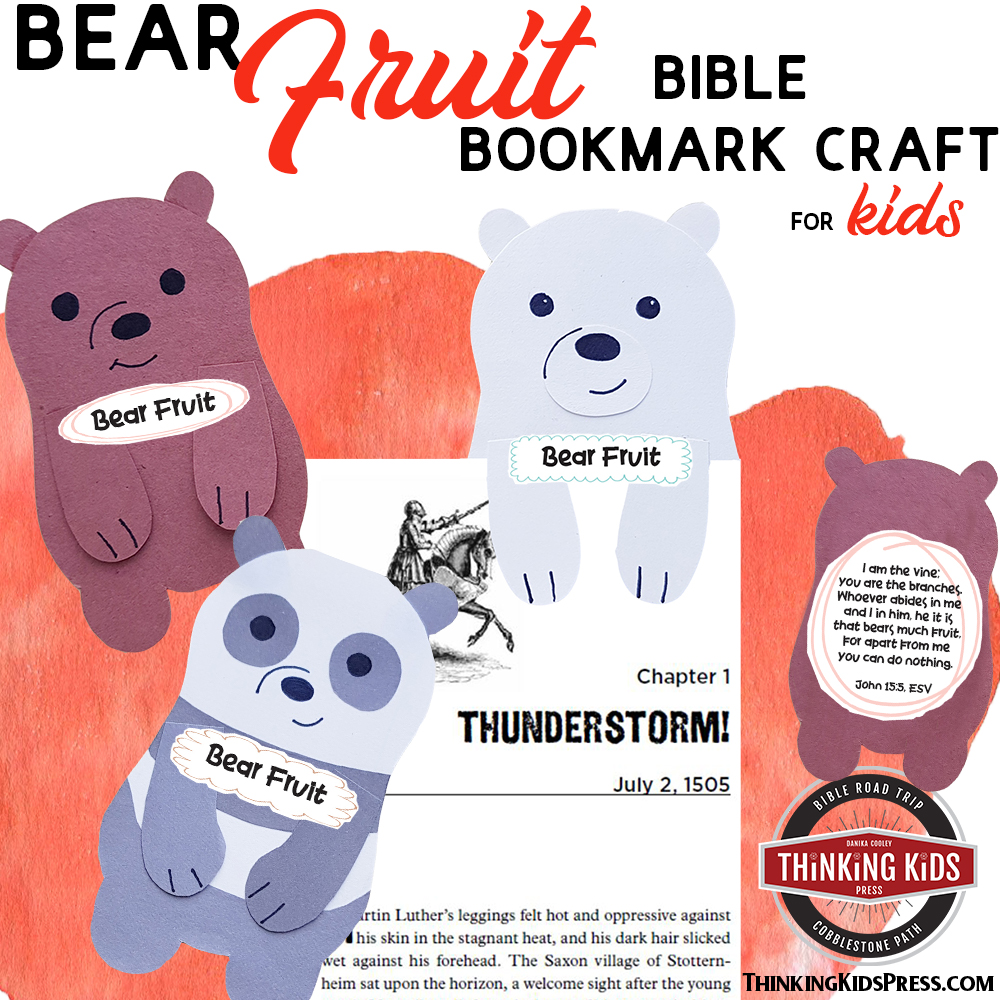 Bear Fruit Bible Bookmark Craft (FREE)