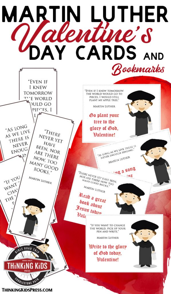 Martin Luther Printable Valentine's Day Cards (and Bookmarks) for Your Kids