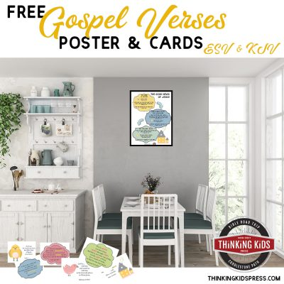 Gospel Bible Verses Poster and Cards | Free with ESV and KJV for your Kids
