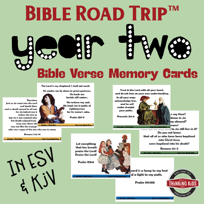 Bible Road Trip™ Year Two Memory Verse Cards