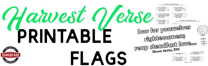 Harvest Bible Verse Printable Flags