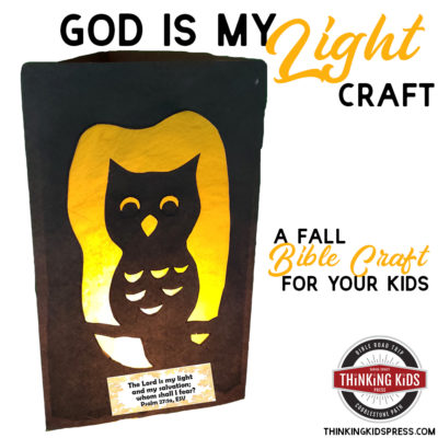 God is My Light Craft | A Fall Bible Craft for Your Kids