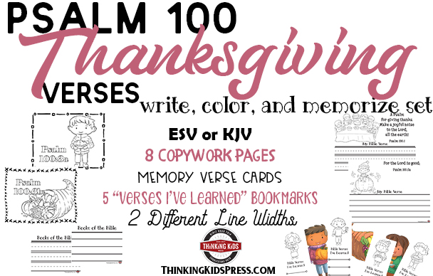 Psalm 100 for Kids | Write, Color, and Memorize Set